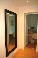 Neuilly-sur-Seine apartment photo - Full size mirror. Mirroir grande taille.