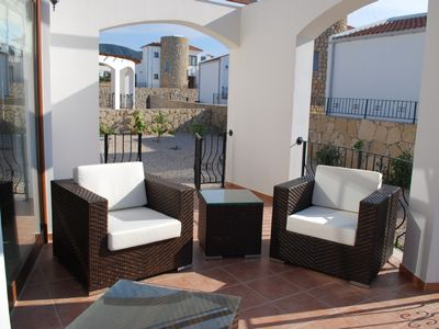 Terrace with 3 seater and 2 chair Rattan set