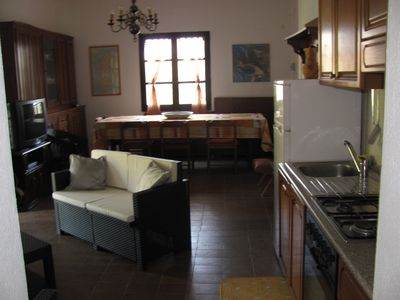House at 1500 m.  from the sea, 2 rooms with 4 beds, 2 baths, large porch