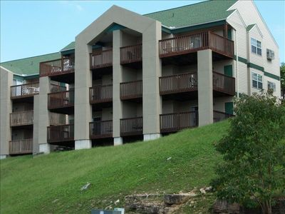 View of Condo from Lake