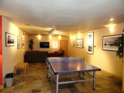 PIng pong and flat screen for the kids (and adults).