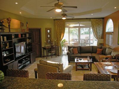 Lots of room for families, guests, custom furnishings made in Costa Rica