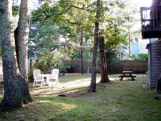Vineyard Haven house photo - Large enclosed backyard