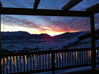 Snowbasin estate photo - Sunset view
