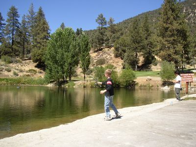 Fishing at Fern Lake is just a 4 minute walk away!