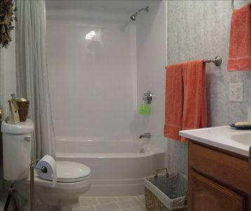 House has two full, clean and updated bathrooms.