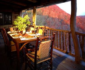 Sapphire cabin photo - Outdoor dining is a must.