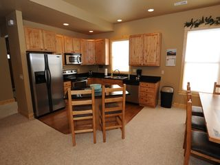 Estes Park condo photo - Kitchen w/Granite Counter Tops & Center Island (in each 3 bedroom condo)