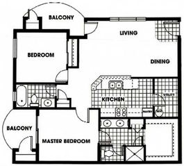 Floor Plan - Tucson condo vacation rental photo