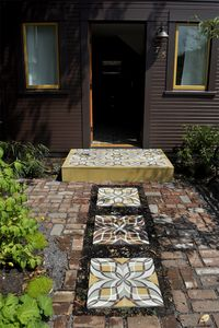View of entry showing cement tiled pavers
