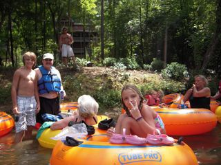 Ellijay cabin photo - Taking A Break From Tubing In The Backyard