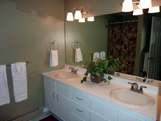 North Conway townhome photo - Private master bathroom with double sinks