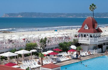 Short 10 minute drive to Coronado Beach named Top 10 best beaches for famillies