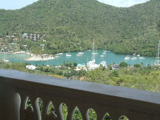Master Bedroom View of Marigot Bay - Marigot Bay villa vacation rental photo