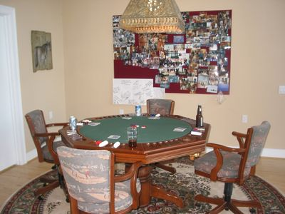 Poker/bumper pool/dining table