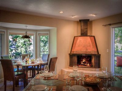 Dining with Fireplace