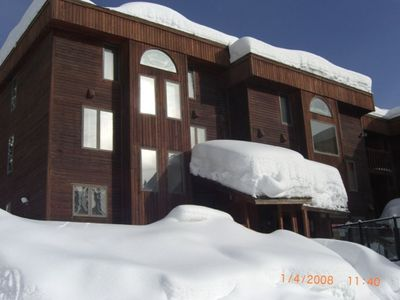Big Mountain Condo - Front View after a great snow.