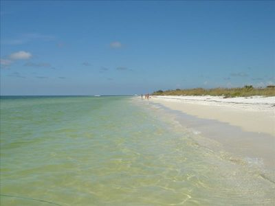 Find your own secluded, sandy, sunny section of the four miles of beach.