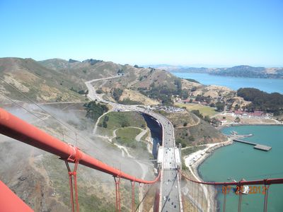 taken by a VRBO client atop the Golden Gate