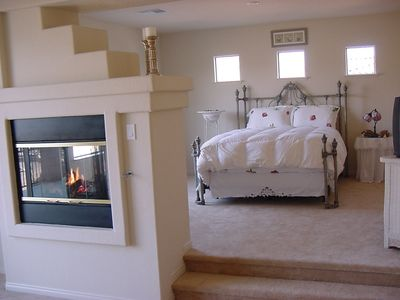 Huge Master Bedroom w/Fireplace, Exercise Room, & cable TV