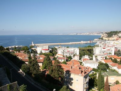 Mont Boron apartment rental - The view from the balcony towards the bay