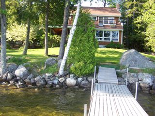 Beech Hill Pond house photo - View from the dock