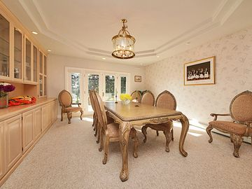Fancy dining in the formal dining room