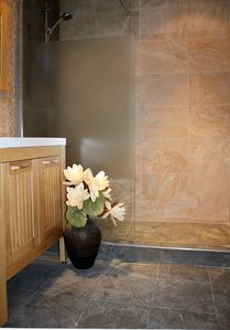 Gorgeous walk-in showers in the B&B rooms