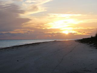 Grand Bahama Island cottage photo - Low tide on Eden Cottage beach at sunset