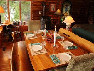 Saranac Lake cabin photo - table seats 10