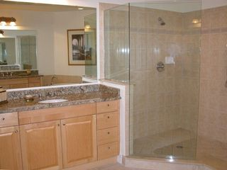 Granite Master Bathroom with Large Soaking Tub, Right of Shower