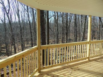 View from covered deck