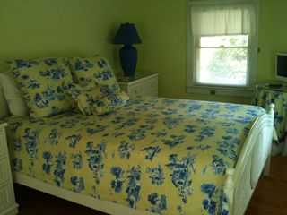 Rehoboth Beach cottage photo - Master Bedroom - Vera Bradley bedspread, TV, DVD Player
