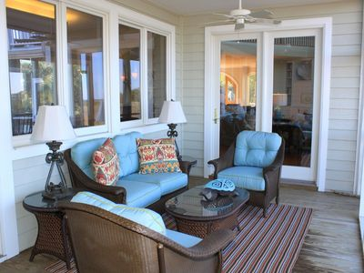 comfy porch with wonderful views