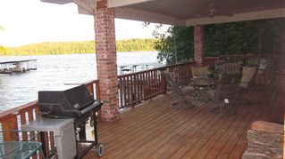 Hot Springs house photo - The relaxing back porch with beautiful lake views.