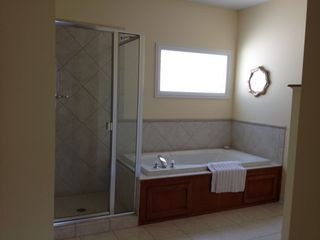 Manistee condo photo - Master bath with jetted tub