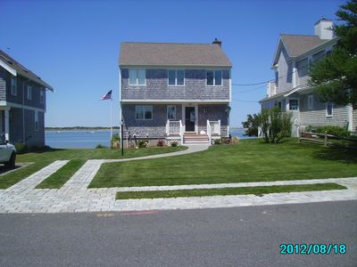 FRONT VIEW OF WATERFRONT HOME