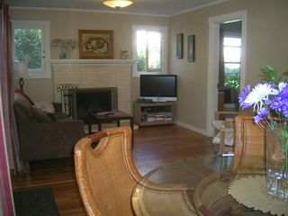 Santa Barbara bungalow photo - With fireplace and hard wood floors (door to office/den)