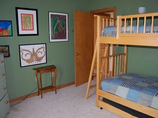 Mount Snow condo photo - 1st Floor Bunk Beds with pull out trundle TV VCR DVD