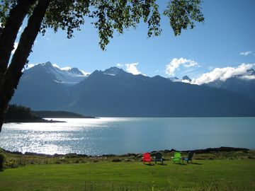 Haines house rental - Living room view