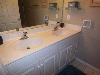 Master Bath with two vanities