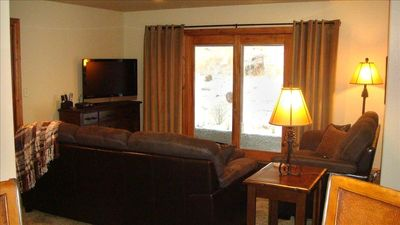 "Walkout Level Family Room with 42"" HDTV, DVD, VCR, Nintendo 64"