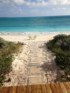 Your path to the beach.  40 steps to the turquoise sea.