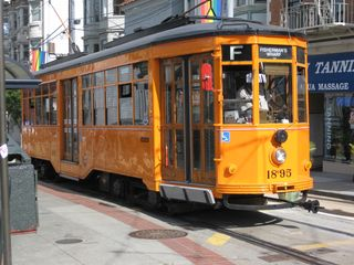 San Francisco apartment photo - F line w/ trollies from all around the worlrd 4 blocks away to Fisherman's Wharf