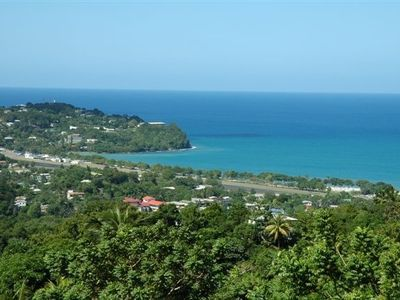 View from villa - Vigie peninsula and beach