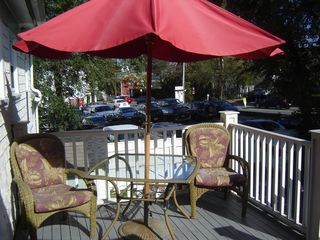 Provincetown condo photo - Your semi private deck with beautiful patio furniture