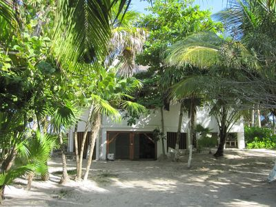 Tulum villa rental - Back of the house. Parking space