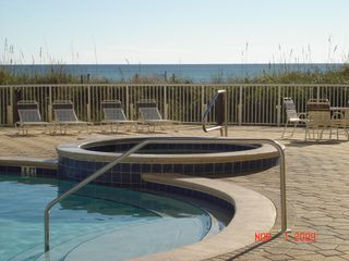 Fort Walton Beach condo photo - View of the pool deck overlooking the Gulf of Mexico