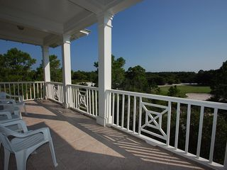 Fort Morgan property rental photo - The balcony overlooks the par 3 8th of the prestigious Kiva Dunes Golf Course!