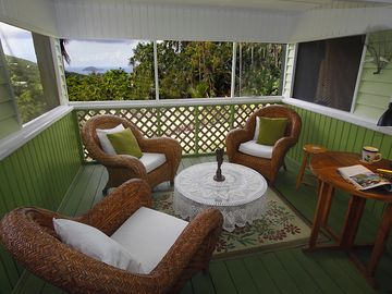 Your screened in porch/living room.